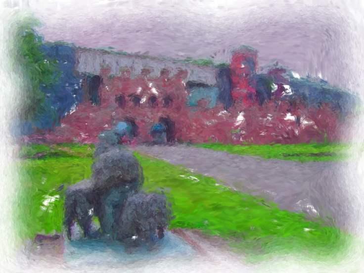 Roman Wall & Sheep_Painting