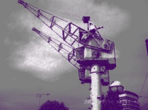 The Cargo cranes of Manchester Docks, captured on my camera and