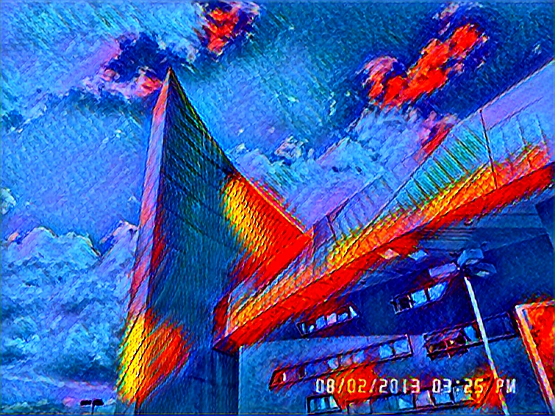 Colourful Image of Imperial war museum in Old Trafford, Greater Manchester