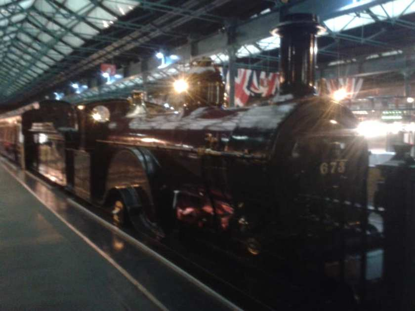 Loco 673, a steam train at National Railway Museum, York