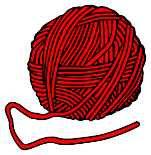 Ball of wool, red