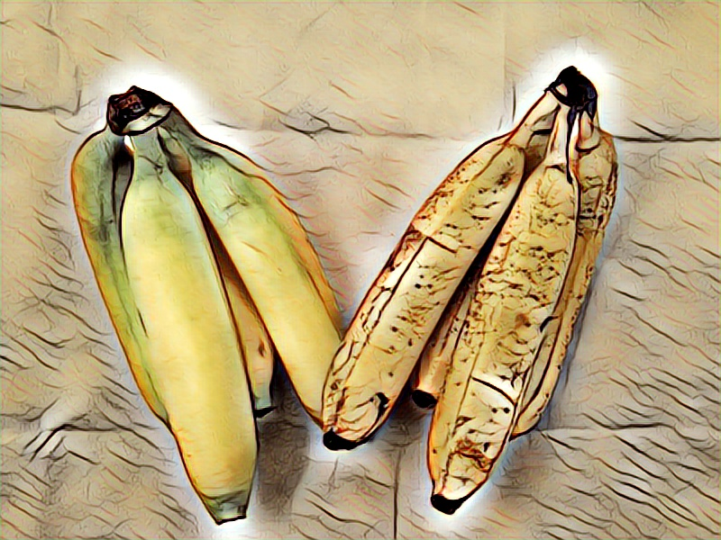 Two bunches of Bananas