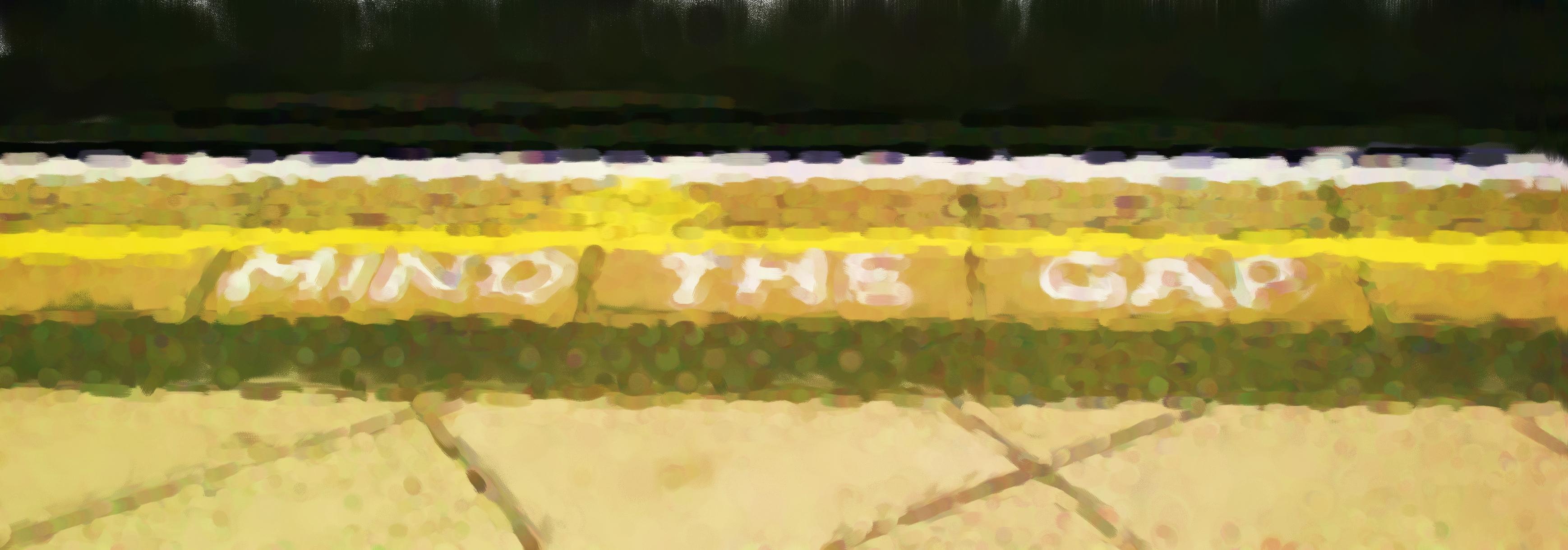 Mind the gap - platform sign
