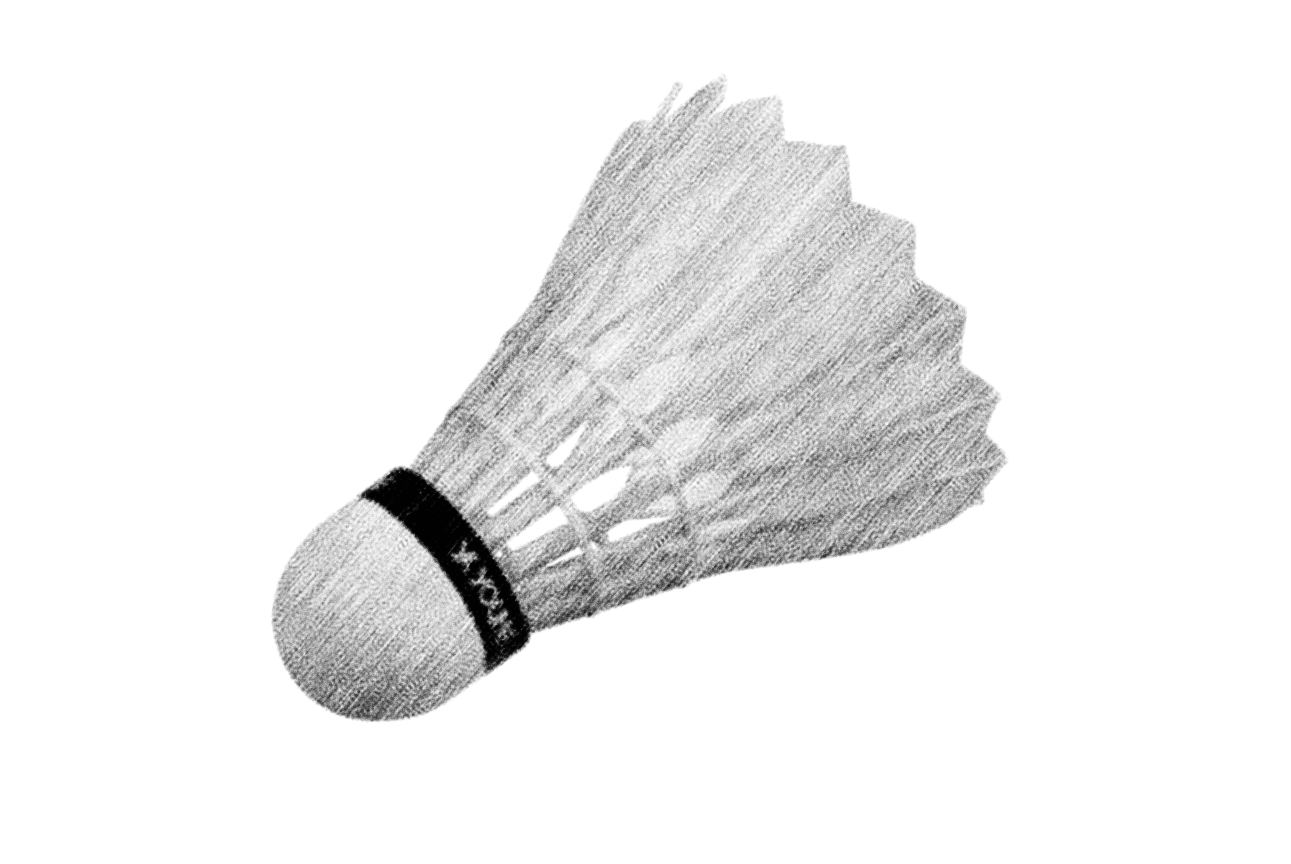 Shuttlecock - Used in Badminton Games, Drawn from stock art by inky