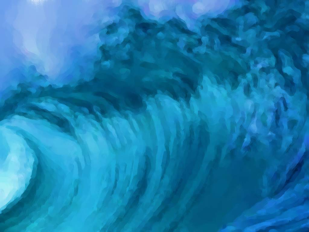 A Wave - Cerulean Blue Colour